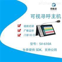 IP可視對講主機2可視語音廣播系統SV-610A