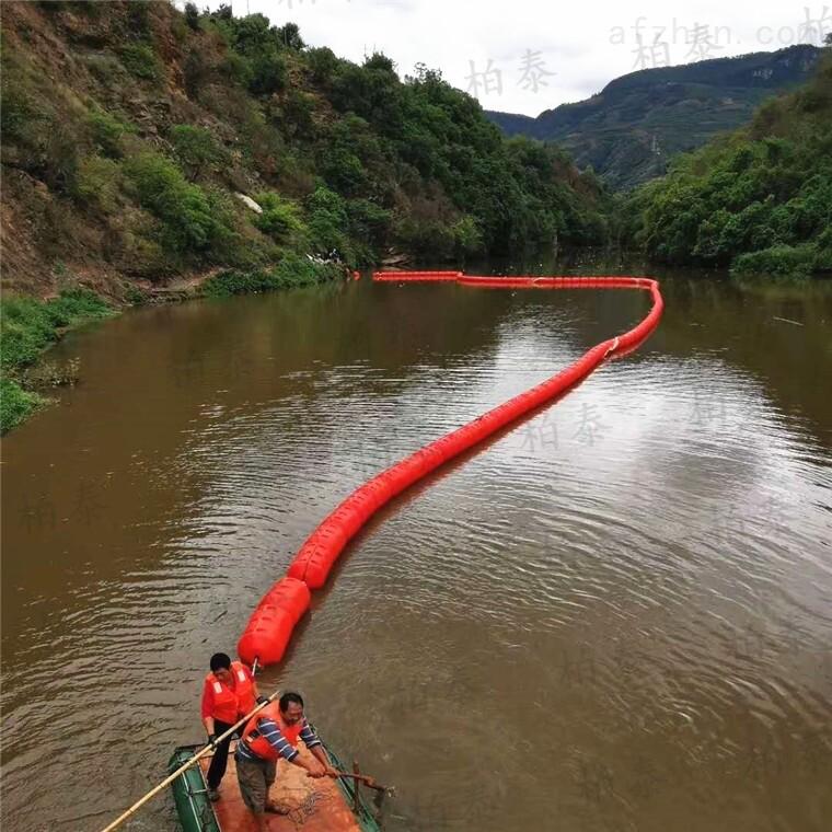水电站拦漂排pe泡沫填充浮筒