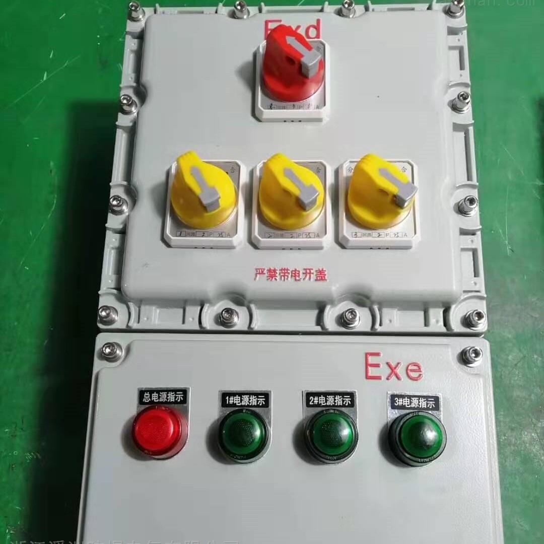 防爆配电箱1总3分照明动力箱