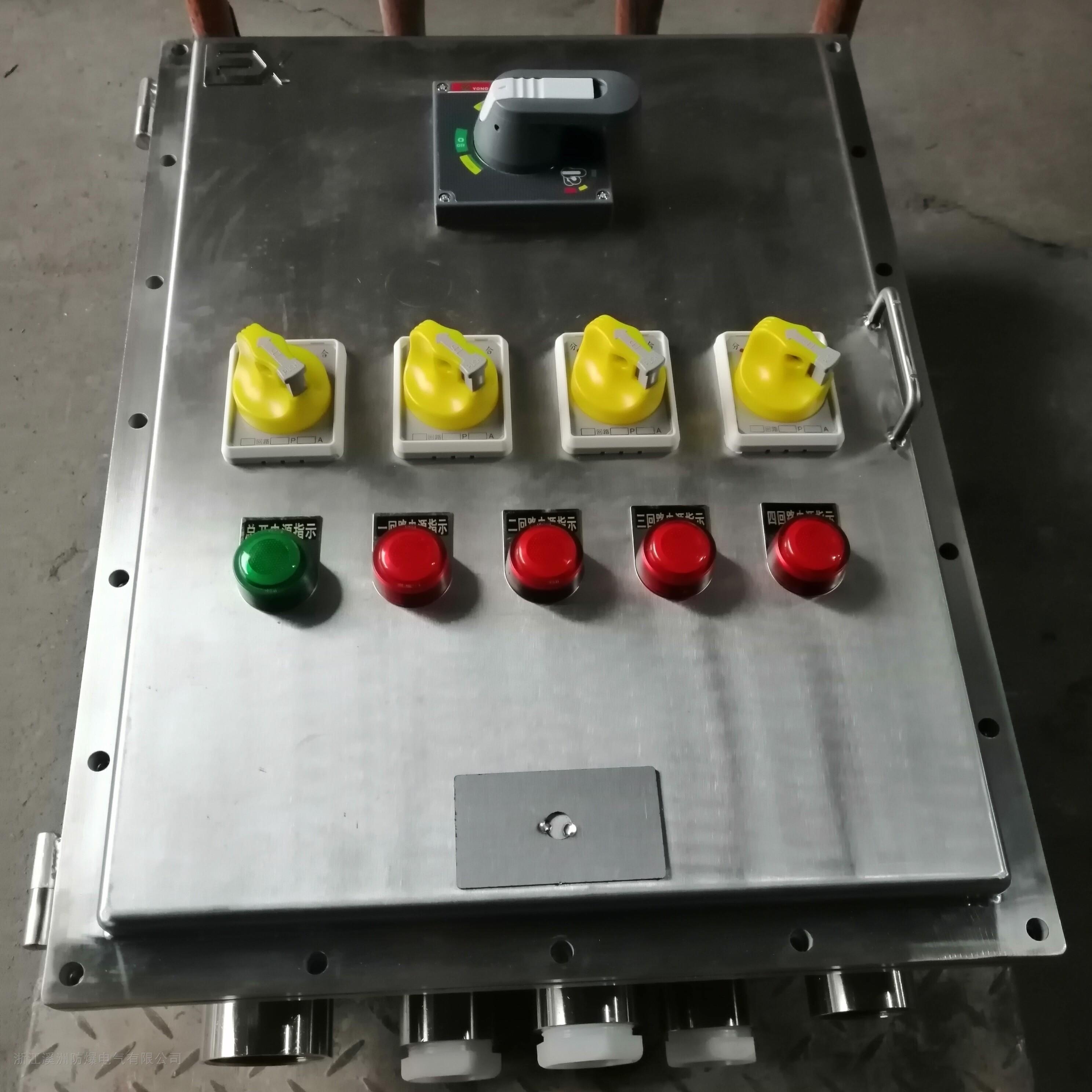 防爆配电箱不锈钢1总4分照明动力箱