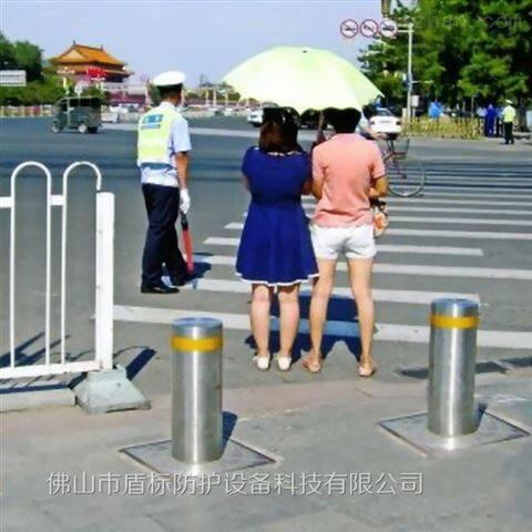 人行道安全阻拦桩-步行街挡车手动升降柱