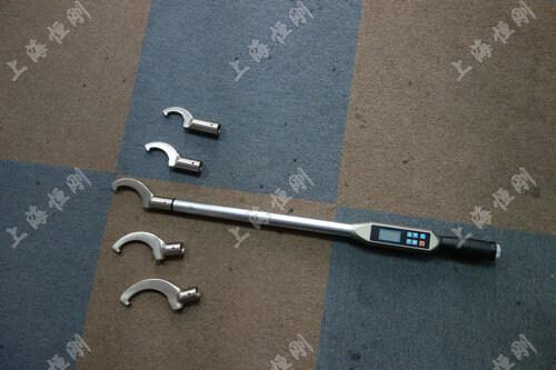 数显扭力测量扳手图片      配勾形头