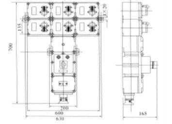 电源插座箱安装尺寸
