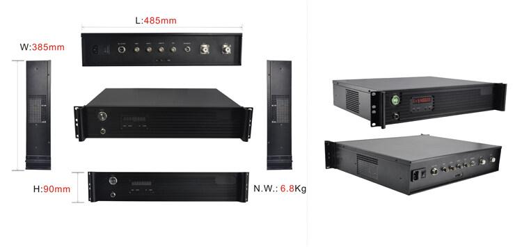 ST9520T大功率车载无线视频传输设备尺寸图